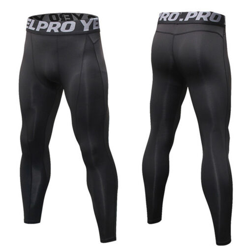 Mens Compression Tights Long Pants Suit Base Layers Sports Workout Sweatsuit Set