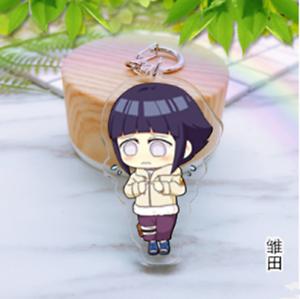HOT Japan Anime Naruto Hyuuga Hinata Acrylic Key Ring Pendant Keychain Gift