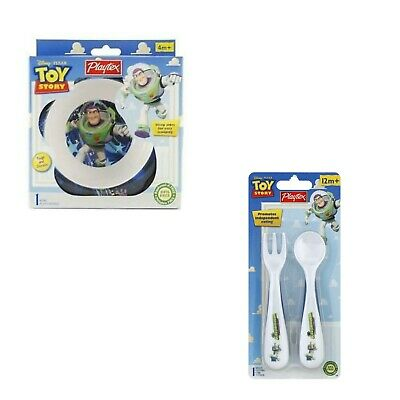 Playtex Toy Story Utensils Set,Shallow bowl on spoon makes removing food easy