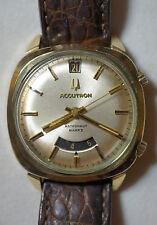 Vintage 1970 Bulova Accutron Astronaut Mark II 14k Gold Filled Watch GMT Date