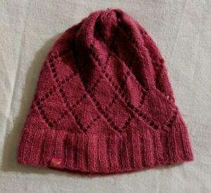 39a5092f0bb Image is loading Womens-American-Eagle-Pink-Knit-Beanie-Winter-Hat-