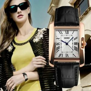 Superbe-Montre-de-Luxe-Quartz-Japonais-Femme-Classique-Bracelet-CUIR