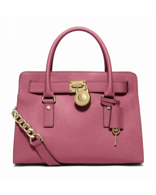 Michael Kors Saffiano Leather Tulip Hamilton Ew Satchel Tote Purse