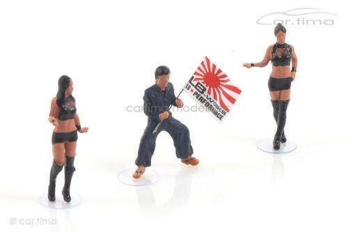 Set Figuren Figurines LB Works Mr Kato /& Show Girls MINI GT 1:64 MGTAC04
