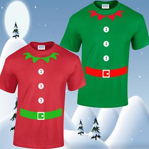 Christmas Jersey Design.Details About Mens Elf T Shirt Unisex Tee Top Christmas Funny Design Jumper Santa Festive