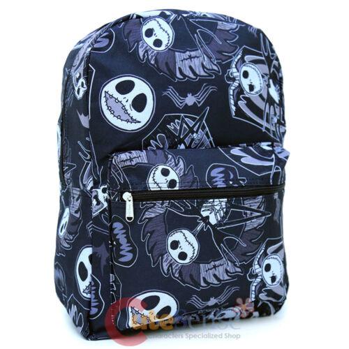 Nightmare Before Christmas Large School Backpack Jack All Over Printed Black