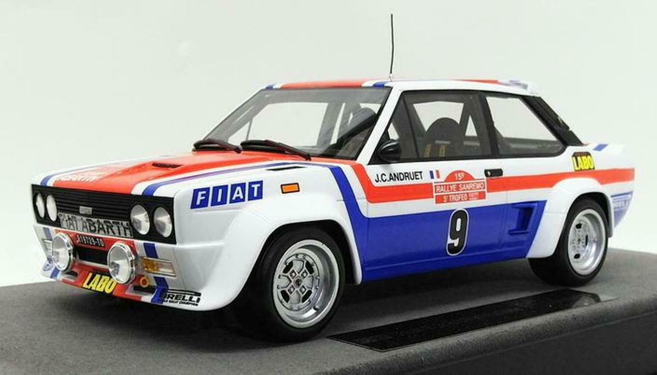 Fiat 131 abarth  9 win san remo  rally 1977 andruet topmarques top043a 1 18  design simple et généreux