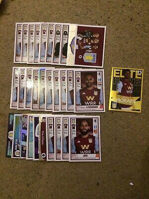 Panini Fútbol 2020 Pegatinas Set Completo De 31 Aston Villa Inc Elite