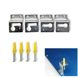 4er set montagematerial led panel anbauset f r wand und deckenmontage winkel ebay