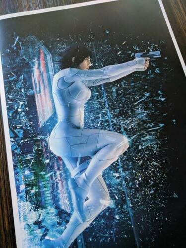 Ghost In The Shell Poster Scarlett Johansson Print Collectors Item comics anime