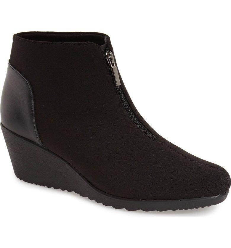 Munro American Women's Rachael Black Fabric Boot 7810 Size 7.5 M