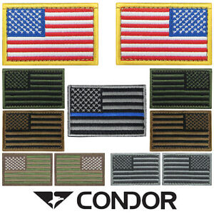 "Condor 230 VELCRO TACTIQUE 2"" X 3"" USA drapeau États-Unis Badge USA patch-afficher le titre d`origine x7C89tb9-07153041-143199656"