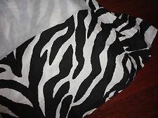 """KIMLOR ZEBRA BLACK WHITE FULL BEDSKIRT 14"""" COTTON BLEND  SPLIT CORNER ANIMAL"""
