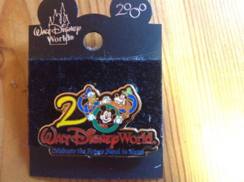 2000 WDW Celebrate The Future Hand In Hand Disney Pin. Mickey, Donald & Goofy.