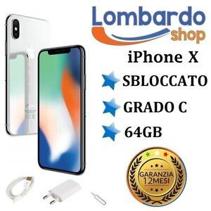 IPHONE-X-Aufbereitet-64GB-Grado-C-Weiss-Silver-Original-Apple-Regeneriert