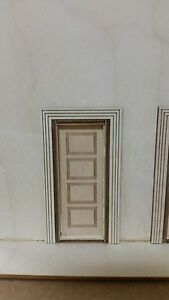 Horizontal 4 panel interior door 1 24 scale for 6 horizontal panel doors