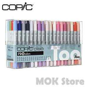 Details About Copic Marker 72 Piece Ciao Set B Twin Tipped Artist Markers Anime Comic Manga