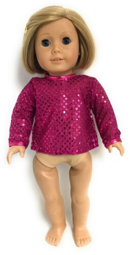 Dark Pink Sequined Shirt Top made for 18 inch American Girl Doll Clothes
