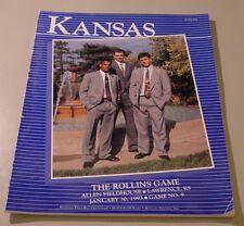 KU Jayhawk Basketball Program - Rollins Jan 30, 1993