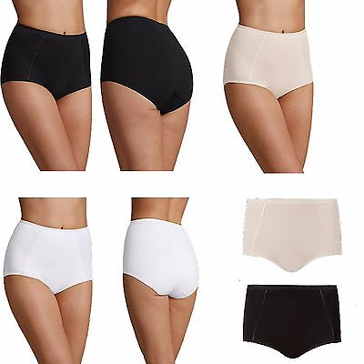 2 Pairs of M/&S Nude White Firm Control Full Tum /& Hip Slimmer Briefs Knickers 8