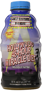 Hollywood Miracle Diet 48-Hour Natural Drink-Fruit Blend-32 oz Weight Loss Foods