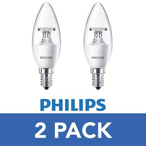 =40W 4W Watt LED Candle Bulbs E14 Edison Screw in Tip Warm White Light 6 Pack