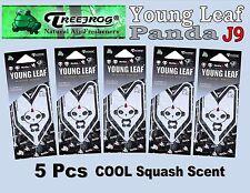 5 Packs Treefrog PANDA J9 YOUNG LEAF Car Home Air Freshener  Cool Squash Scent