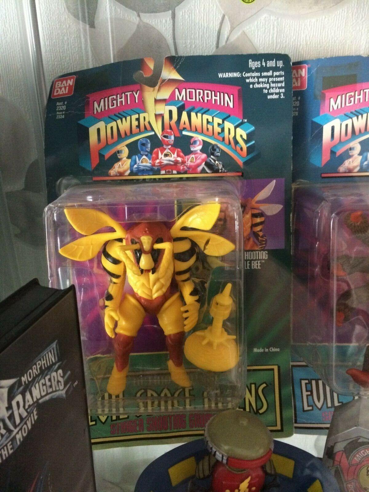 Mighty morphin power rangers spidertron and grumblebee figures mint original vin