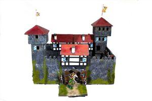 Ritter-Normannen-Burg-Rabenfels-3162-zu-7cm-Sammelfiguren-Fertigmodell-in-Comp