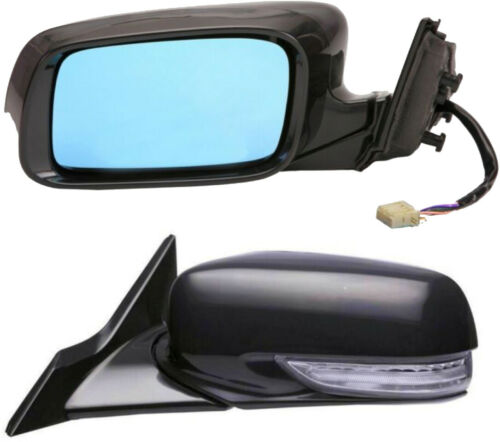 Outside Door Mirror Left Driver Side for Acura TL Power Heated Memory Signal blu