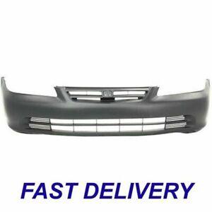 New Front Bumper Cover Primed Fits 2001-2002 Honda Accord Sedan Model HO1000196