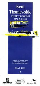 Bus-Map-Guide-Kent-Thames-Side-Gravesend-Dartford-Mar-1999-Arriva-Stagecoach