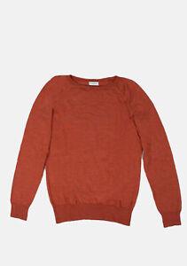 Original-Dries-Van-Noten-Thin-Wool-Orange-Men-Sweater-in-size-M
