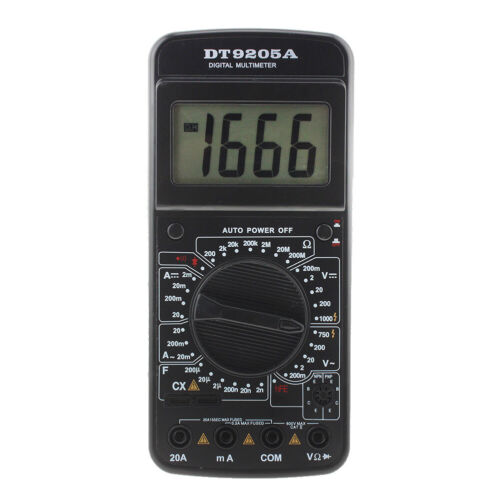 DT9205A Digital AC//DC Electric Handheld Ammeter Resistance Capacitance Test *DC