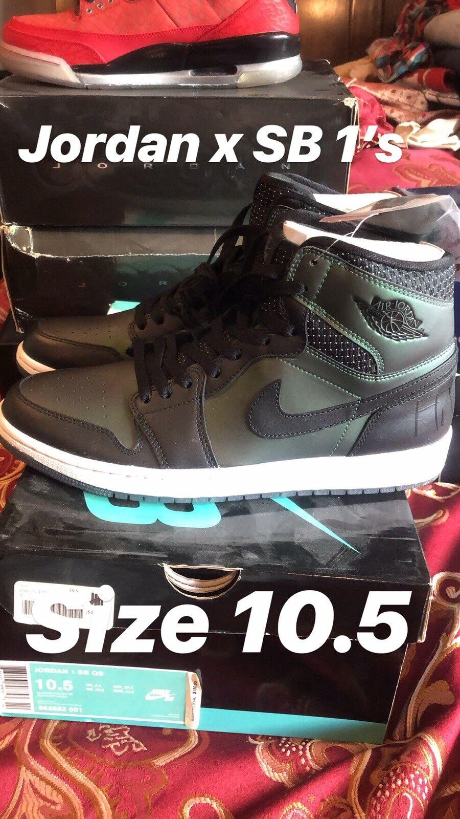 Nike Air Jordan 1 SB QS Black Black-Silver Size 10.5 653532-001 NEW
