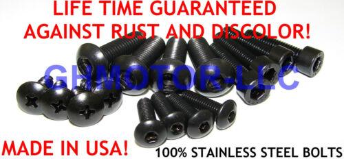 07 08 09 10 11 12 CBR600RR 600rr BLACK FAIRING BOLTS SCREWS Fasteners KIT USA