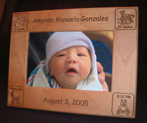 Personalized Engraved 4x6 Baby Announcement Frame Ebay