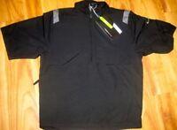 Nike Golf Mens S/s Wind Jacket Stretch Windwear 1/4-zip Top Pullover Small Black