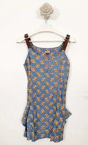 ladies-Joe-Browns-Ditsy-Daisy-Floral-Dress-Top-Size-10-Blue-Mix-Sleeveless