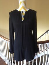 Groovy Mod Givenchy Paris Black Sweater Tunic Couture Piece Audrey 1960's