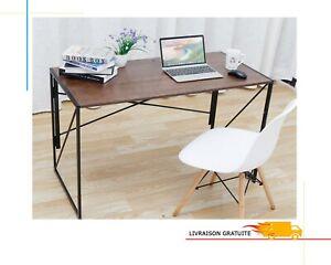 Table Bureau Forme X Ordinateur PC En Acier Etanche 110 * 55* 75cm Poste Pliable