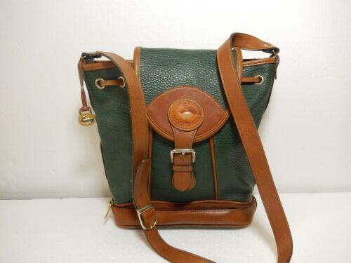 color cuero Vintage Dooney ¡Agradable en marrón de Latón bandolera Bolso claro Bourke wX0r1qX