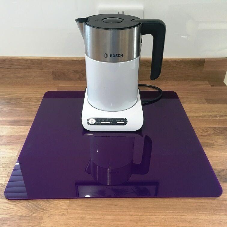 Square Acrylic Worktop Saver - Purple
