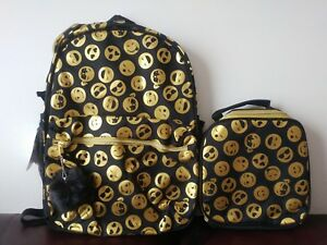 430d8898b802 2pc The Children s Place Kids Girls Foil Emoji Face Print Backpack ...