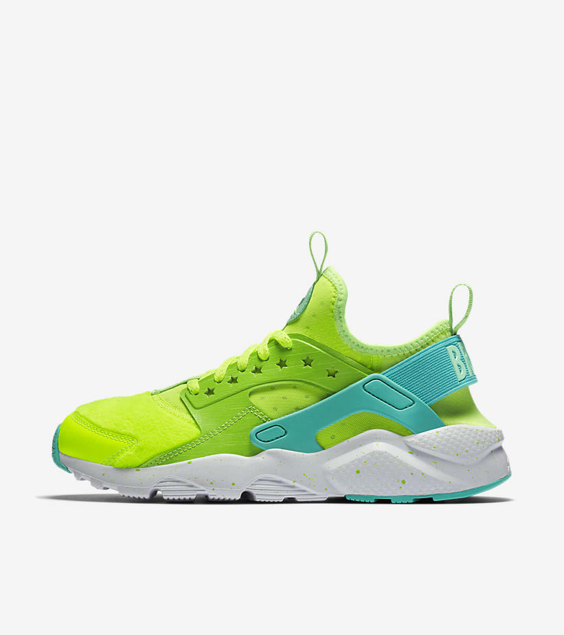 Nike WOMEN'S Air Huarache Run Ultra DOERNBECHER DB SIZE 7 BRAND NEW VOLT