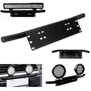 Universal-Black-Bumper-License-Plate-Mount-Bracket-Holder-for-Driving-Light-H0W3