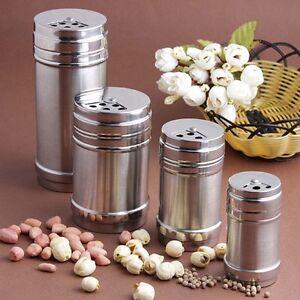 Spice-Salt-Pepper-Herb-Shaker-Jar-Toothpick-Storage-Bottle-Stainless-Steel-AU