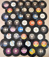 45 RPM Records - Lot of 44 Vinyl Singles - 1990s - Rock, Pop, Country Dance Hits