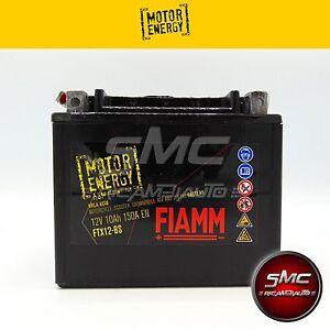 BATTERIA MOTO FIAMM MOTOR ENERGY FTX12-BS =YUASA YTX12-BS CON ACIDO 12V 10Ah AGM