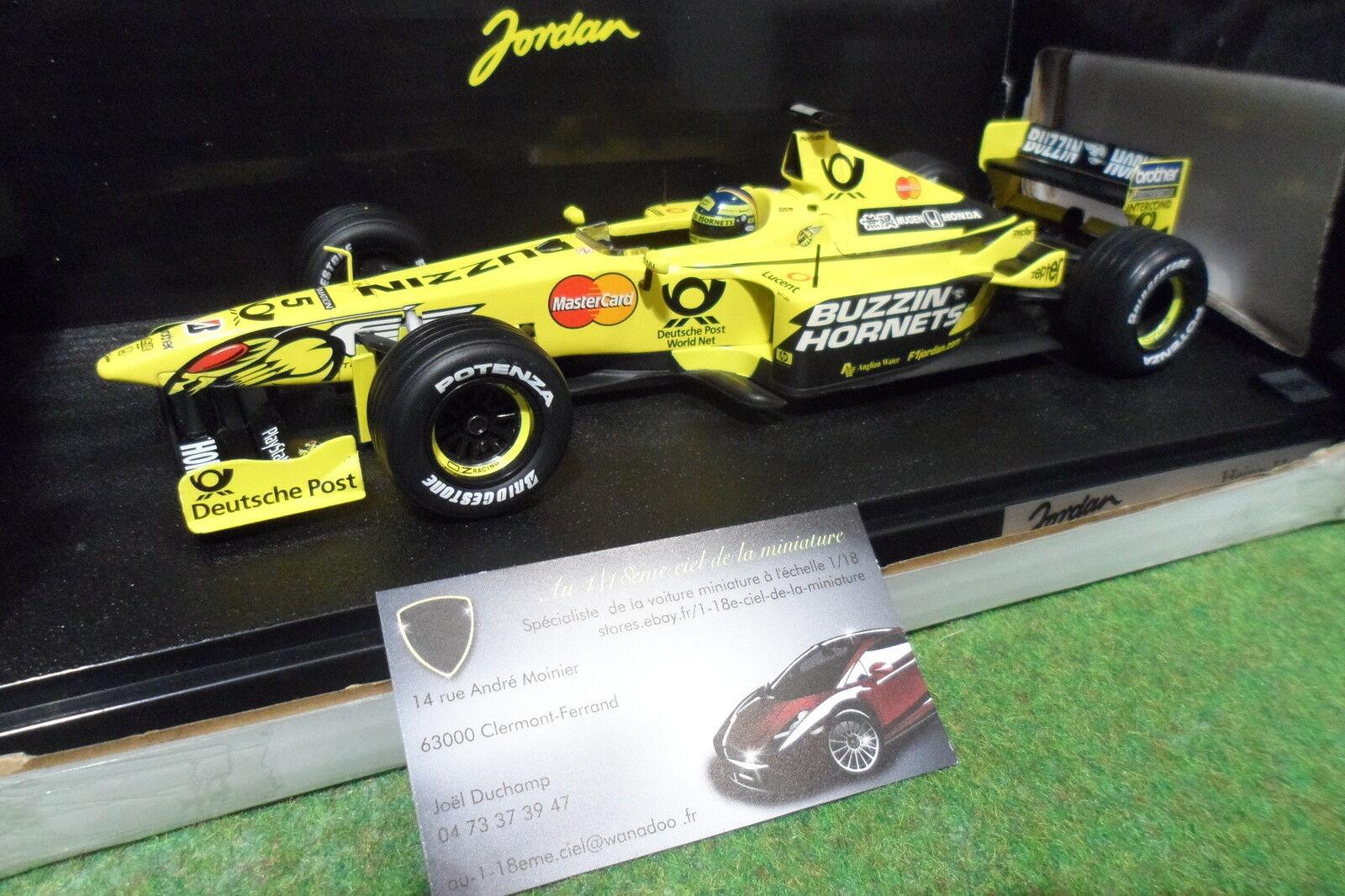 F1 JORDAN HONDA EJ10 FRENTZEN 1 18 caliente ruedaS 26743 formule 1 voiture miniature